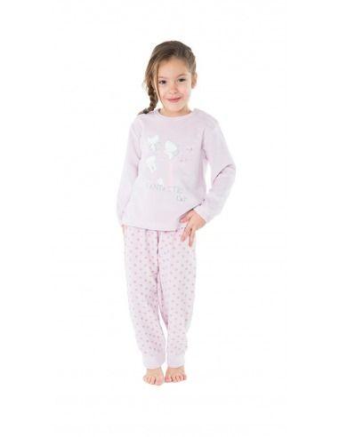 Pijama infantíl niña terciopelo gatos MUSLHER