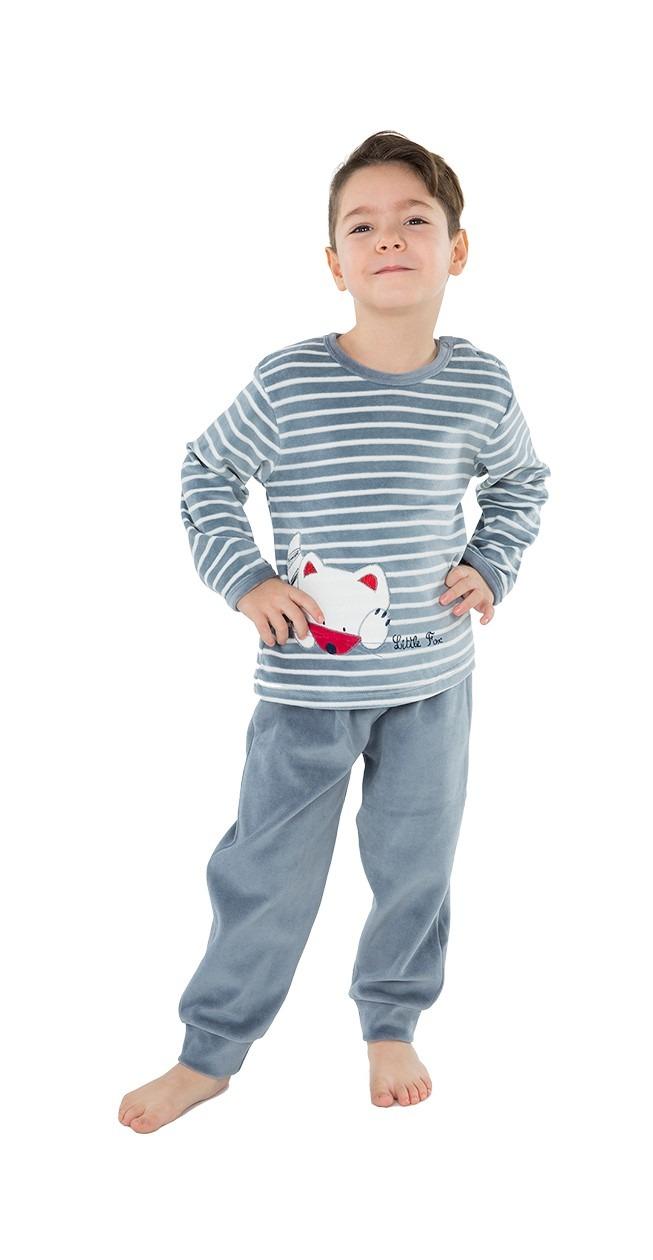 Pijama infantíl niño terciopelo zorro MUSLHER