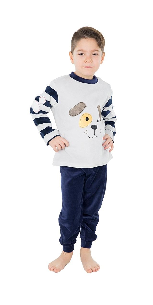 Pijama infantil niño terciopelo puño perro MUSLHER