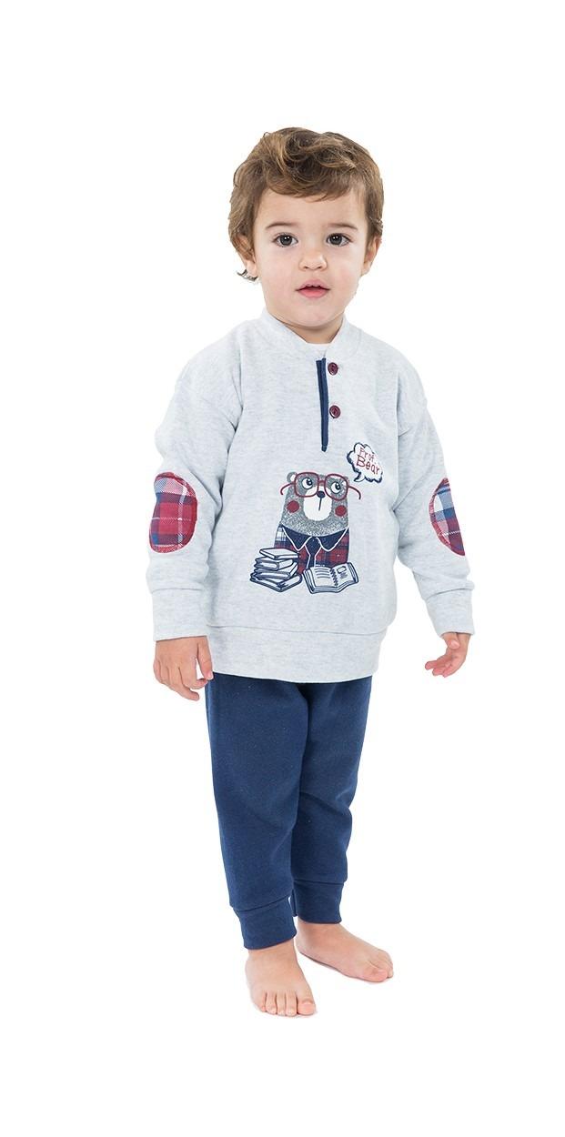Pijama infantíl niño polar puño osito MUSLHER