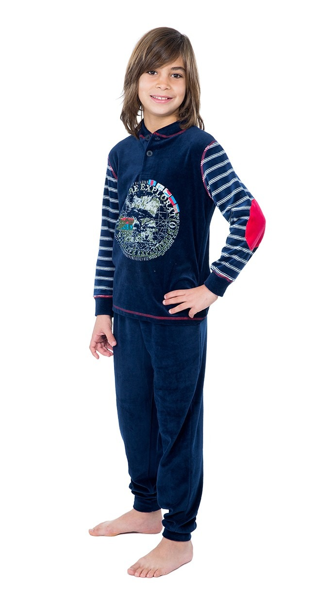 Pijama niño terciopelo mundo MUSLHER