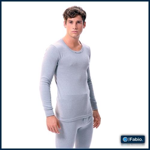 Camiseta hombre manga larga cerrada Algodón acrílico FABIO