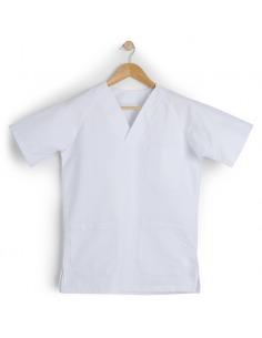 Casaca sanitaria unisex manga corta blanca ENCA