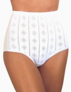 Braga mujer alta clásica algodón 100% calada AVET