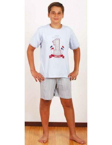Pijama niño manga corta campeon AMELI