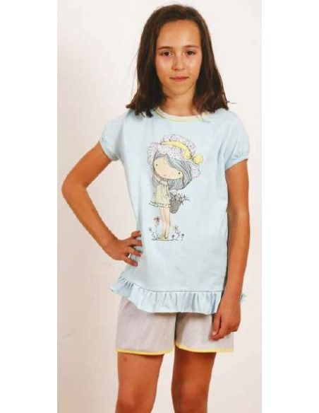 Pijama niña manga corta muñeca AMELI