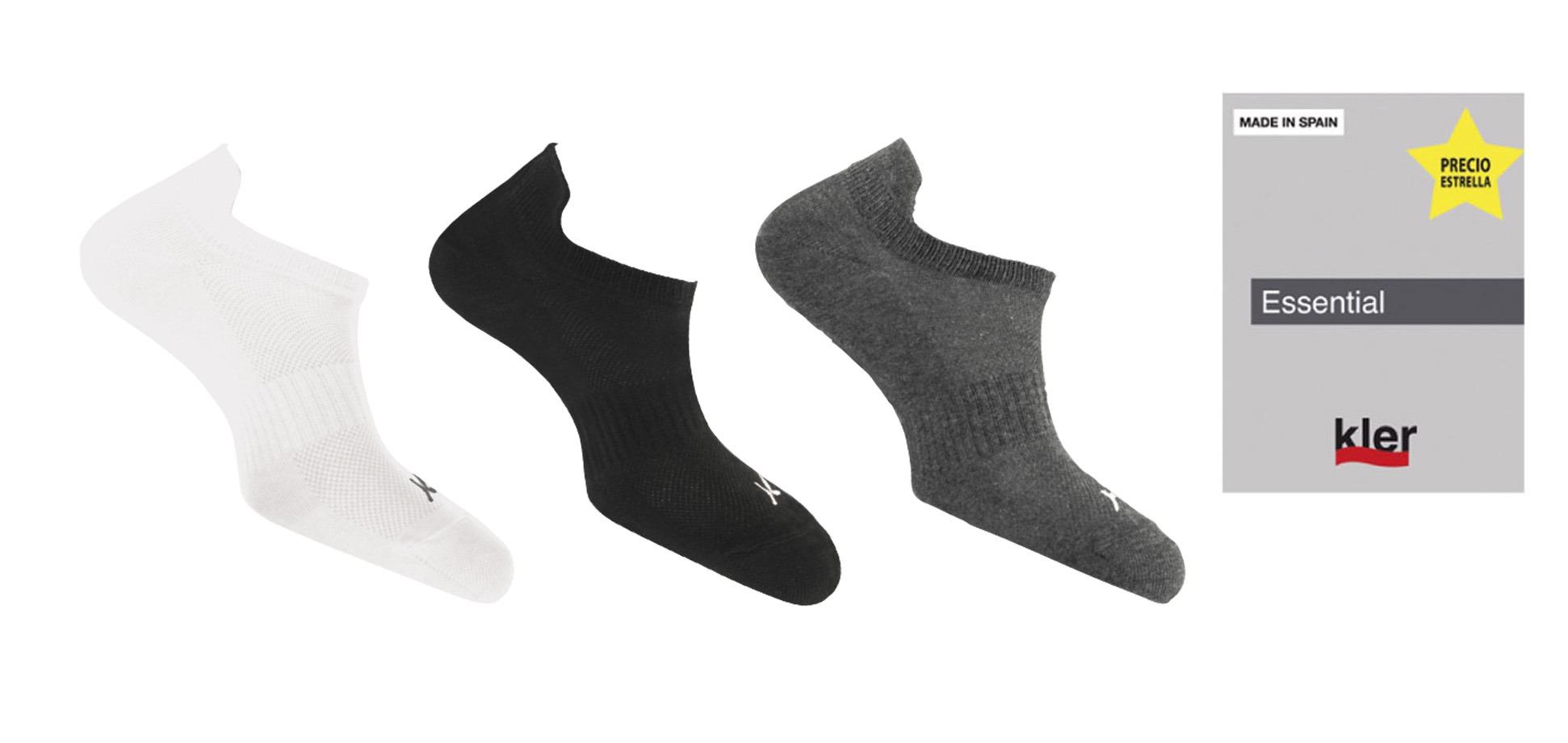 Calcetín hombre invisible deportivo algodón KLER