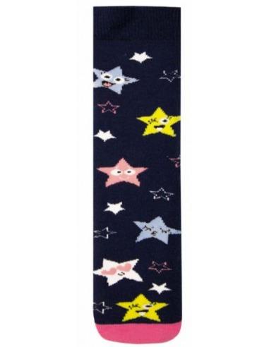 Calcetín infantil rizo liso estrellas antideslizante KLER