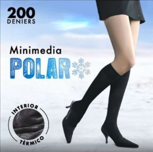 Mini media polar afelpada 200 deniers interior térmico MARIE CLAIRE