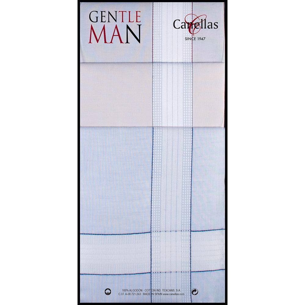 Pañuelo caballero algodón fondo color Canellas