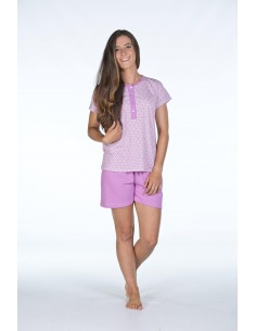 Pijama mujer verano manga corta algodón EMENETÉ