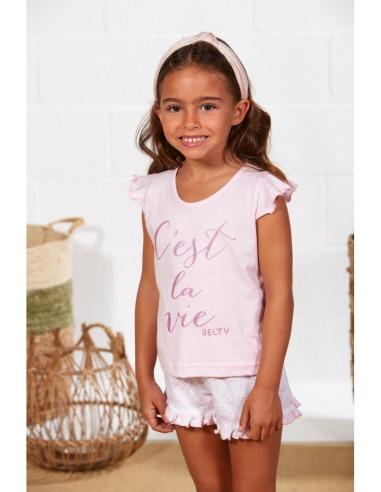 Pijama niña verano corto C'est La Vie BELTY