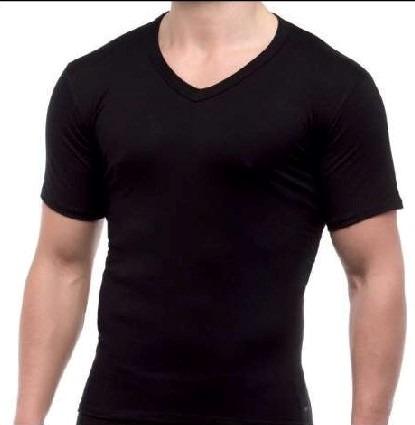 Camiseta interior térmica hombre pico manga corta LUDGY