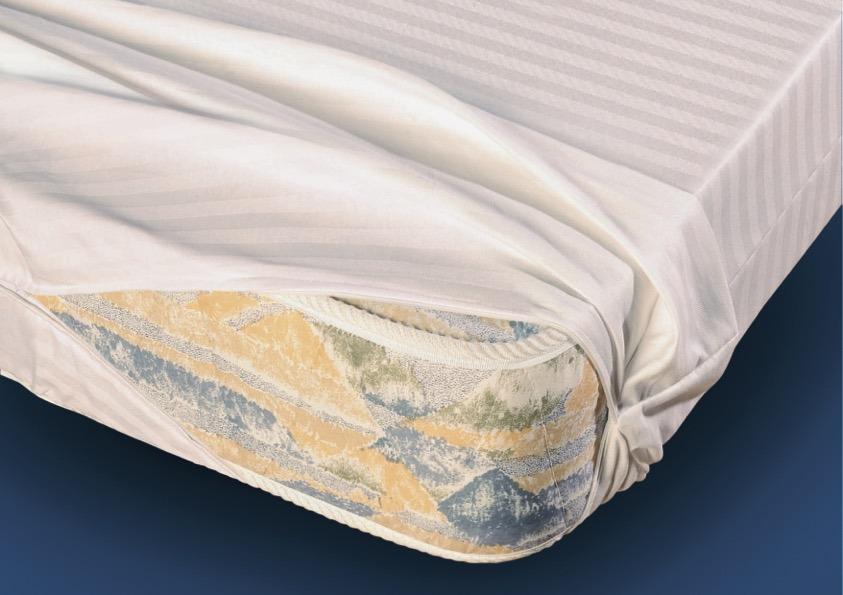 Funda colchón algodón raso listado D.N. MODA HOGAR
