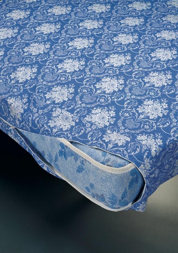 Funda colchón estampado floral antipeeling D.N. MODA HOGAR