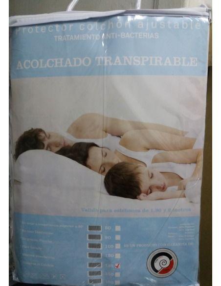 Protector colchón ajustable acolchado transpirable D.N. MODA HOGAR