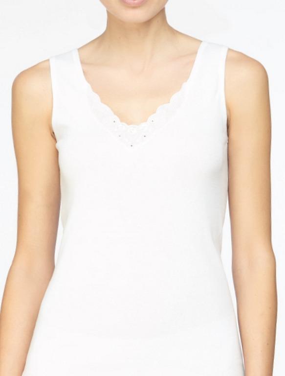 Camiseta algodón bordado escote Avet