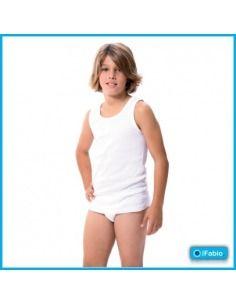 Camiseta niño tirantes algodón sport FABIO