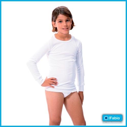 Camiseta niño Manga larga de Algodón Termal FABIO