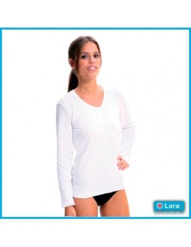Camiseta mujer manga larga Algodón térmico LARA