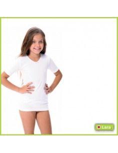 Camiseta niña manga corta Algodón térmico LARA