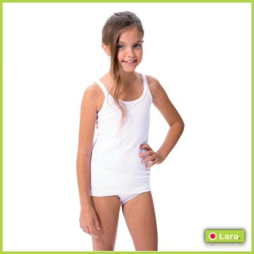 Camiseta niña Tirante Algodón Licra algodón LARA