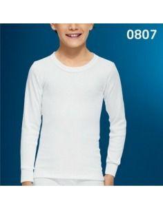 5e5c7396f8262 Abanderado Camiseta Interior Manga Larga Niño termal