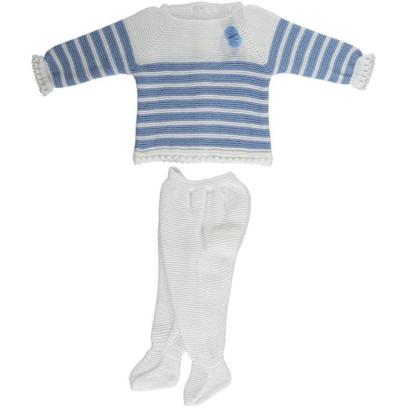 Conjunto 2 piezas vestido panty menguado rayado Juliana