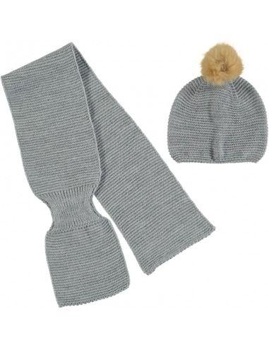 Juego bufanda gorro guantes recién nacido Juliana