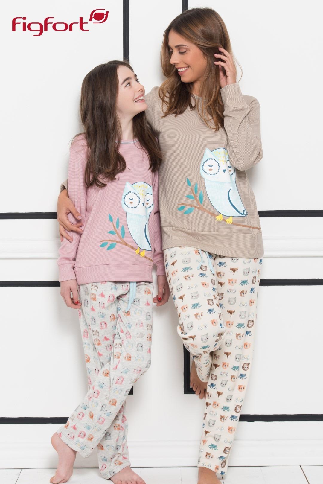 42966bf43 Compra Pijama largo niña buho FIGFORT online